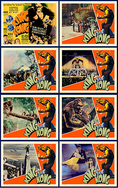 King Kong 1933 Lobby Card Set (11 X 14)