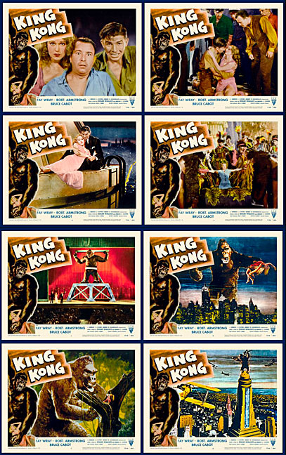 King Kong 1956 ReRelease Lobby Card Set (11 X 14)