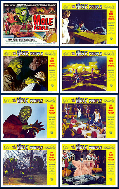 Mole People, The 1956 Lobby Card Set (11 X 14)