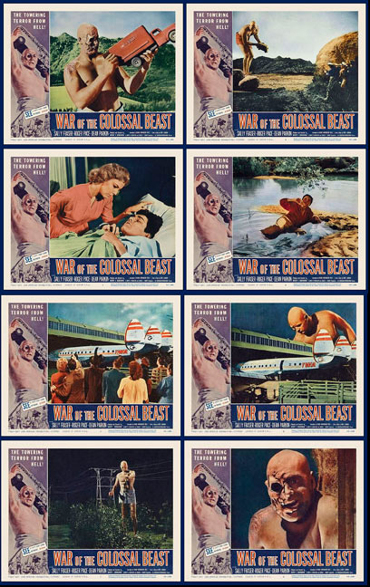 War of the Colossal Beast 1958 Lobby Card Set (11 X 14)