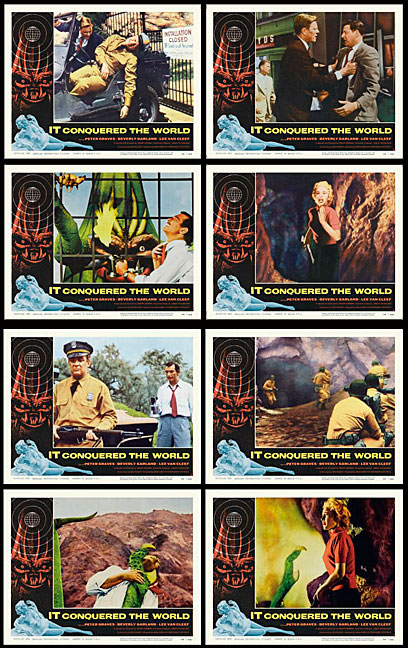 IT Conquered The World 1956 Lobby Card Set (11 X 14)