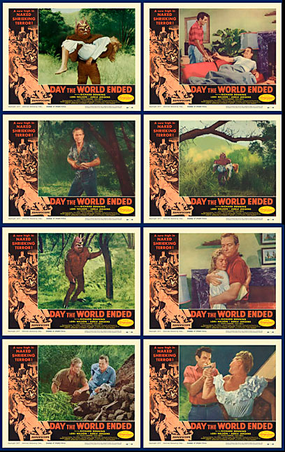 Day the World Ended 1956 Lobby Card Set (11 X 14)