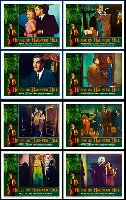 House on Haunted Hill 1959 Lobby Card Set (11 X 14) Vincent Price