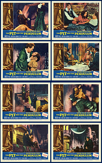 Pit and the Pendulum, The 1961 Lobby Card Set (11 X 14)