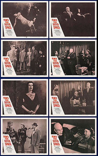 Plan 9 from Outer Space 1958 Lobby Card Set (11 X 14)