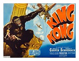 "King Kong 1942 Style ""B"" Half Sheet Poster Reproduction"