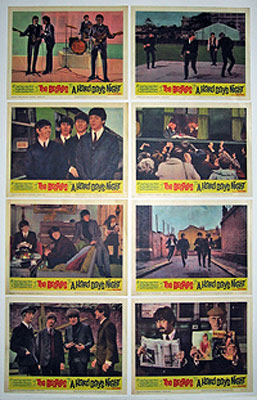 Beatles Hard Days Night Lobby Card Set (11 X 14)