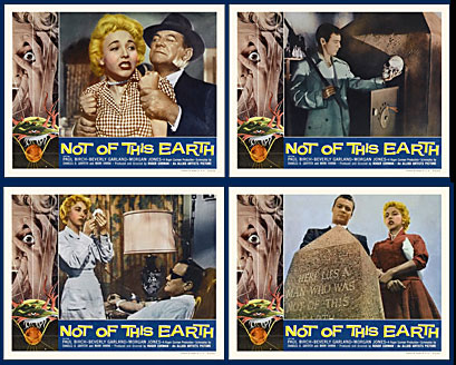 Not Of This Earth 1957 Lobby Card Set (11 X 14)