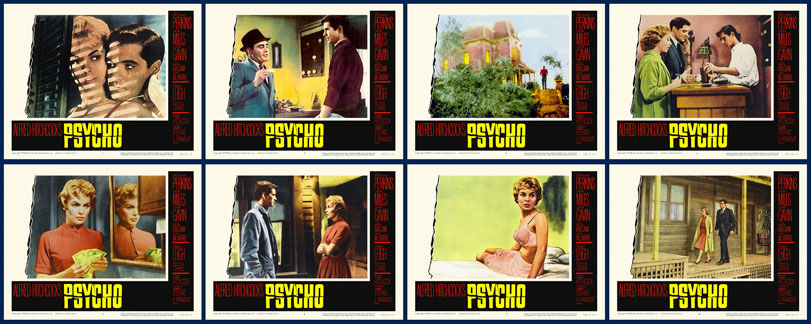 Psycho 1960 Lobby Card Set (11 X 14) Alfred Hitchcock