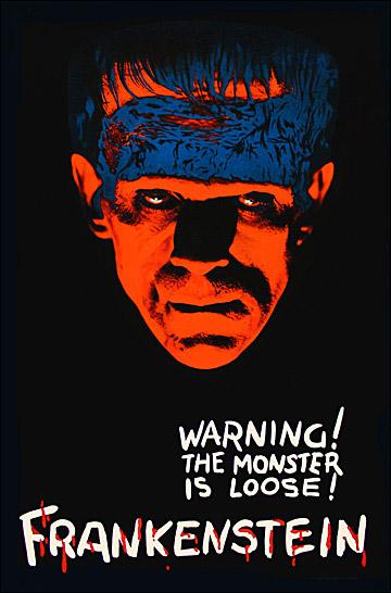 Boris Karloff Frankenstein Repro Film POSTER