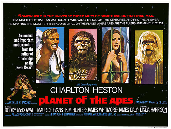 Planet of the Apes 1968 British Quad Reproduction Poster