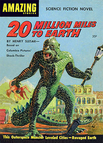 20 Million Miles to Earth 1957 Amazing Stories Science Fiction Novel Cover Reproduction