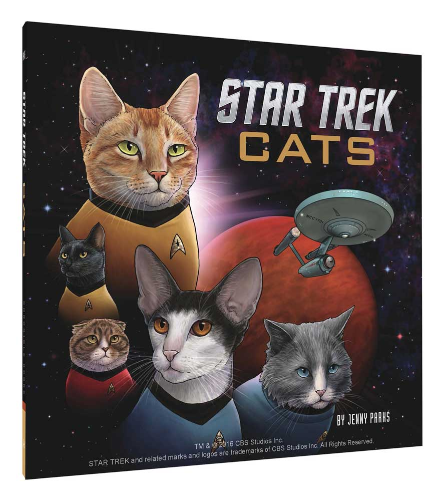 Star Trek Cats Hardcover Book by Jenny Parks