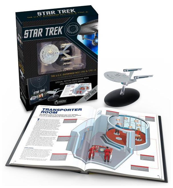 Star Trek U.S.S. Enterprise NCC-1701 Bonus Illustrated Handbook Hardcover Book and BONUS Starship Enterprise