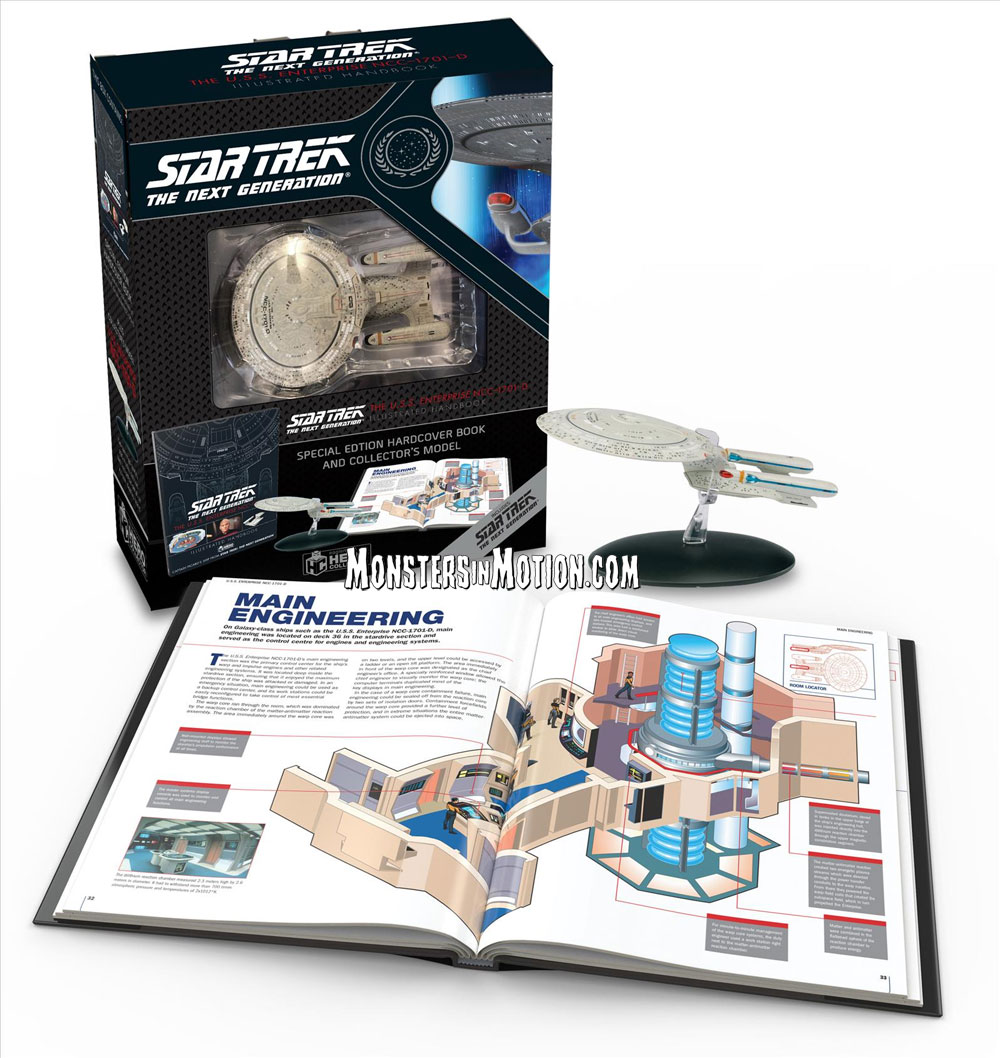 Star Trek The Next Generation U.S.S. Enterprise NCC-1701-D Bonus Illustrated Handbook and BONUS Starship Enterprise