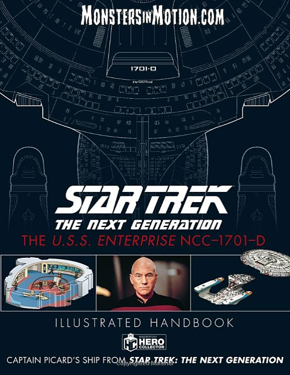 Star Trek The Next Generation U.S.S. Enterprise NCC-1701-D Illustrated Handbook Hardcover Book