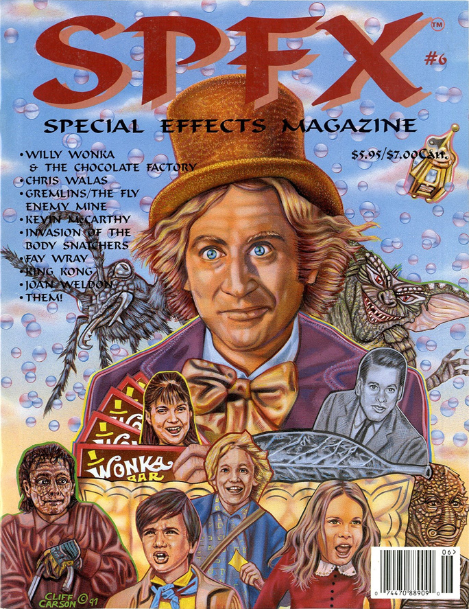 SPFX Special Effects Magazine Volume 6 Ted Bohus Willy Wonka