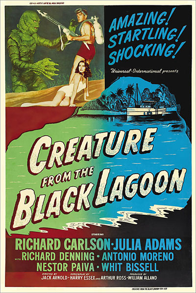 Creature from the Black Lagoon 1954 Full-Size 40X60 Reproduction Poster