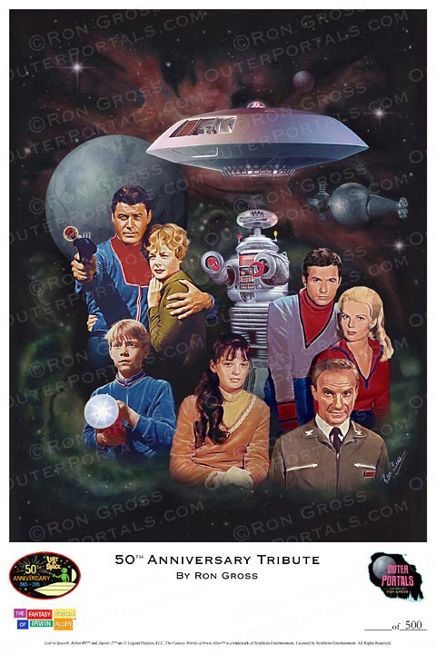 Lost In Space 50th Anniversary Tribute Poster by Ron Gross