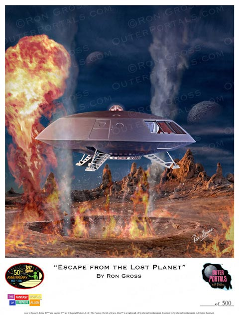 Lost In Space Escape from the Lost Planet Poster by Ron Gross