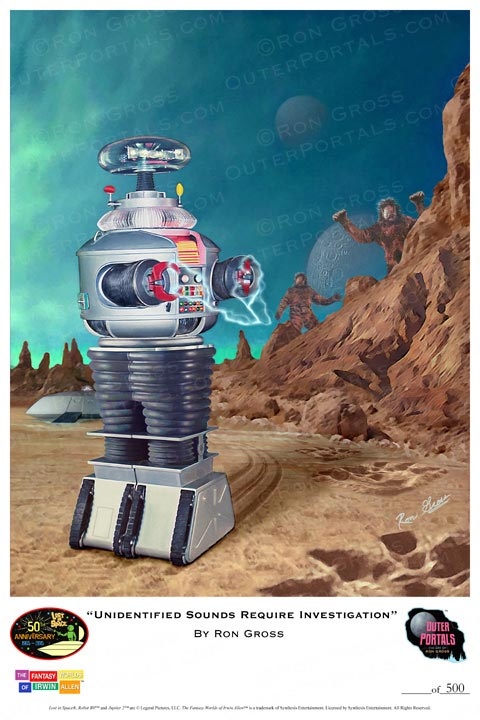 Lost In Space Robot YM-3 Unidentified Sounds Require Investigation Poster by Ron Gross