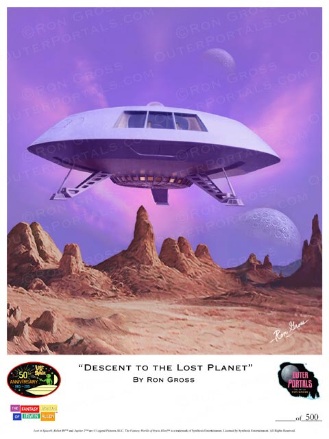 Lost In Space Descent to the Lost Planet Poster by Ron Gross