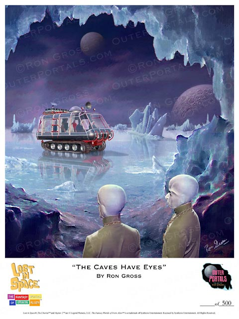 Lost In Space The Caves Have Eyes Poster by Ron Gross