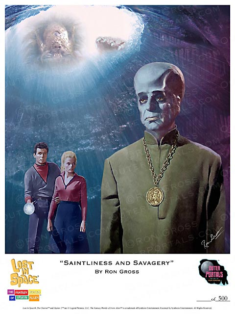 Lost In Space Saintliness and Savagery Poster by Ron Gross