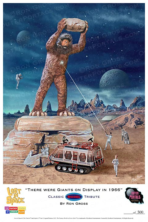 Lost In Space There Were Giants On Display In 1966 Classic Model Tribute Poster by Ron Gross