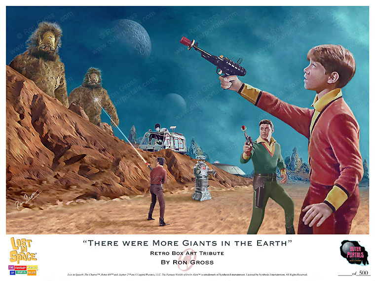 Lost In Space There Were More Giants in the Earth Poster by Ron Gross