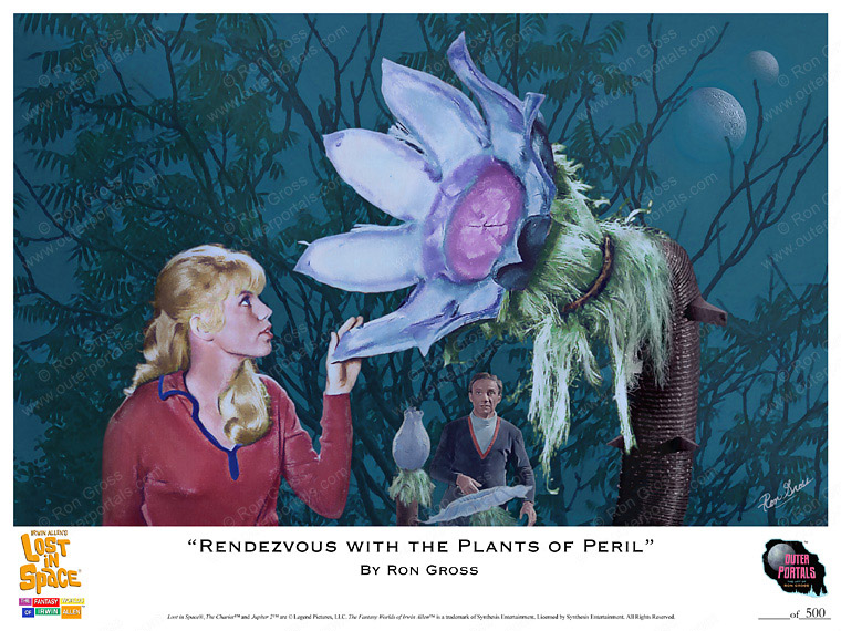 Lost In Space Rendezvous With the Plants of Peril Poster by Ron Gross