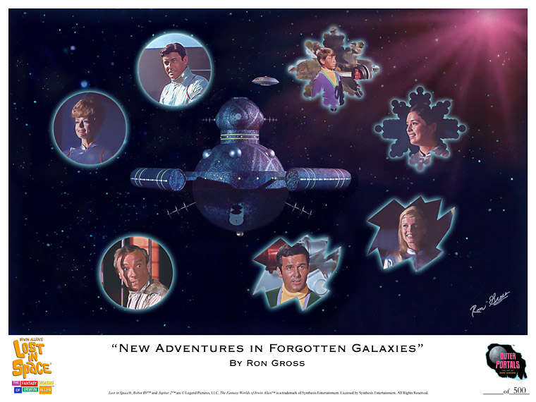 Lost In Space New Adventures in Forgotten Galaxies Poster by Ron Gross