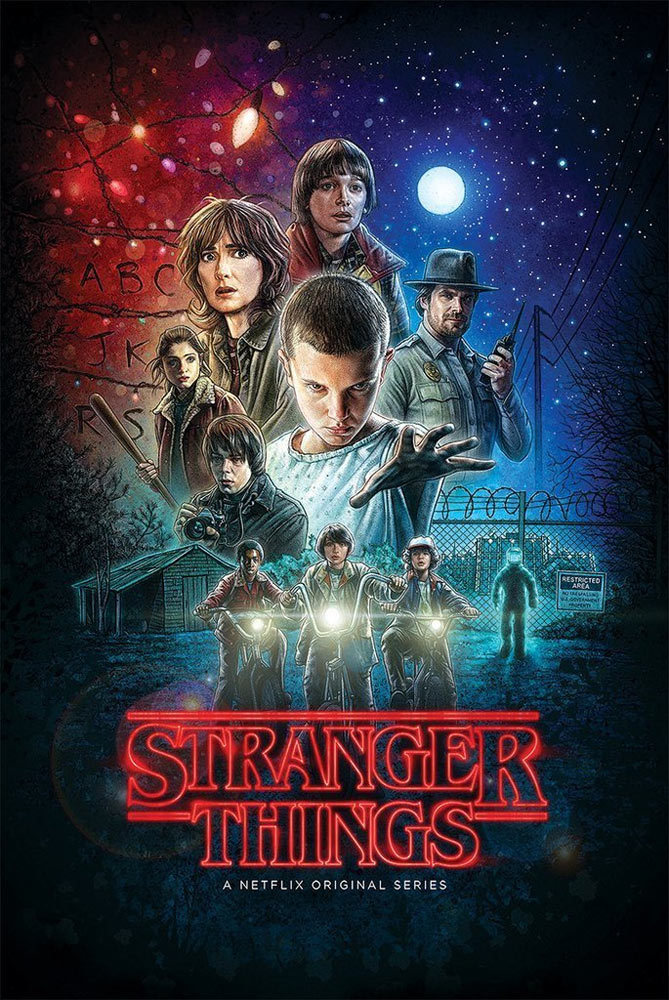 "Stranger Things Season One Poster #2 24"" X 36"" Cast"