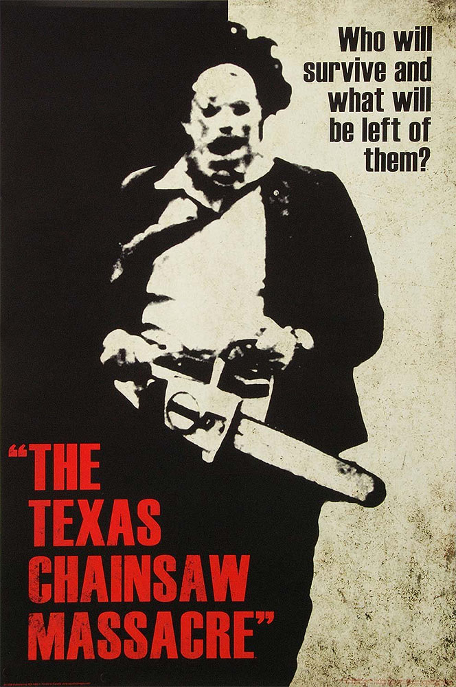 "Texas Chainsaw Massacre Classic Movie Poster 24"" X 36"""