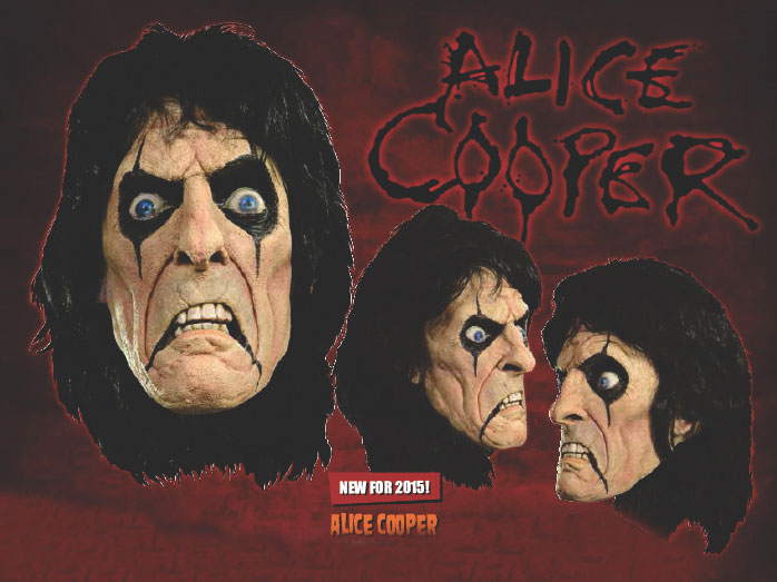 Alice Cooper Latex Halloween Mask