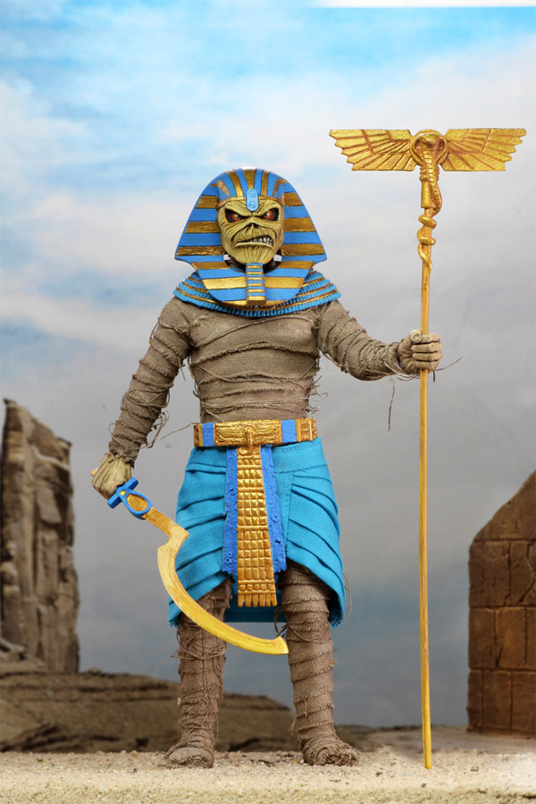 Iron Maiden Pharaoh Eddie Clothed 8-Inch Action Figure