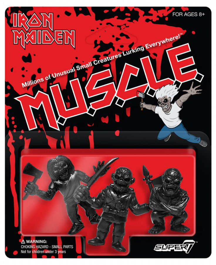 Iron Maiden MUSCLE Set of 3 Figures in Black
