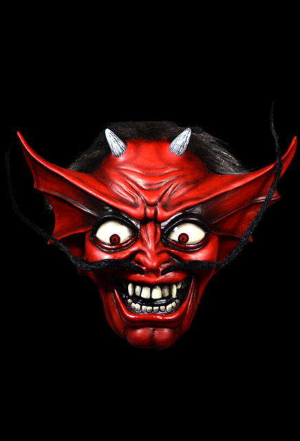 Iron Maiden Number Of The Beast Devil Latex Pullover Mask