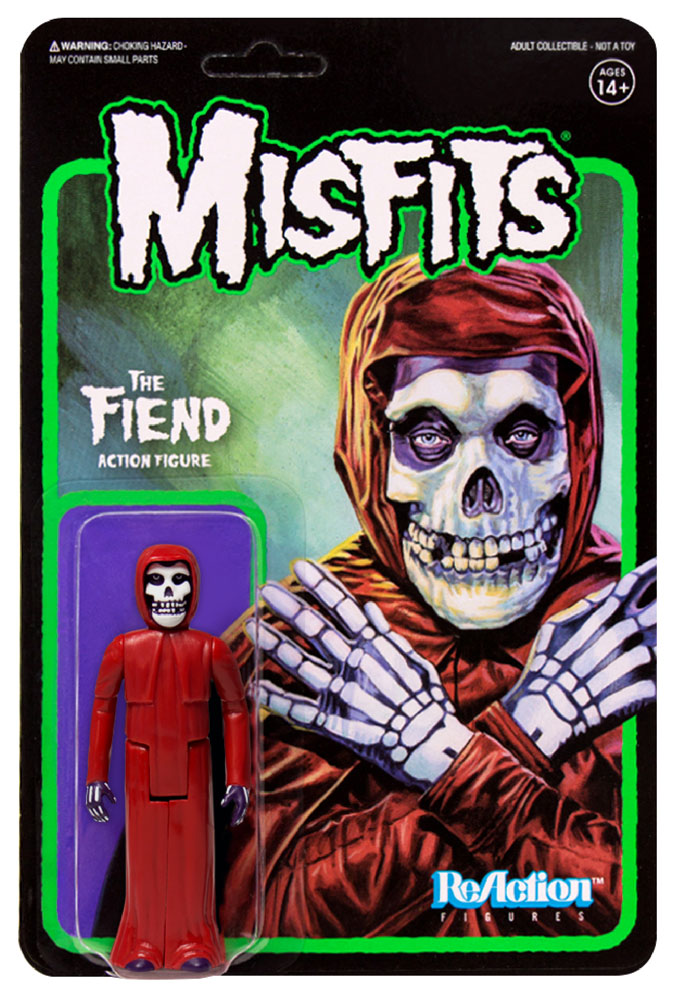 "Misfits Fiend 3.75"" ReAction Figure Crimson Red Version"