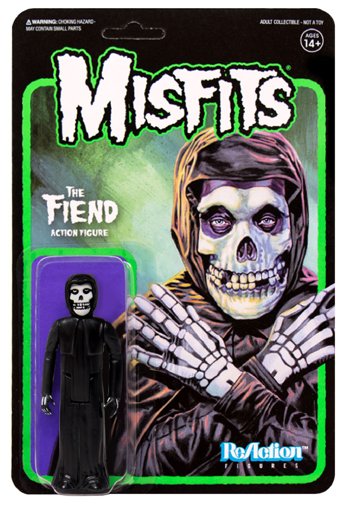 "Misfits Fiend 3.75"" ReAction Figure Midnight Black Version"