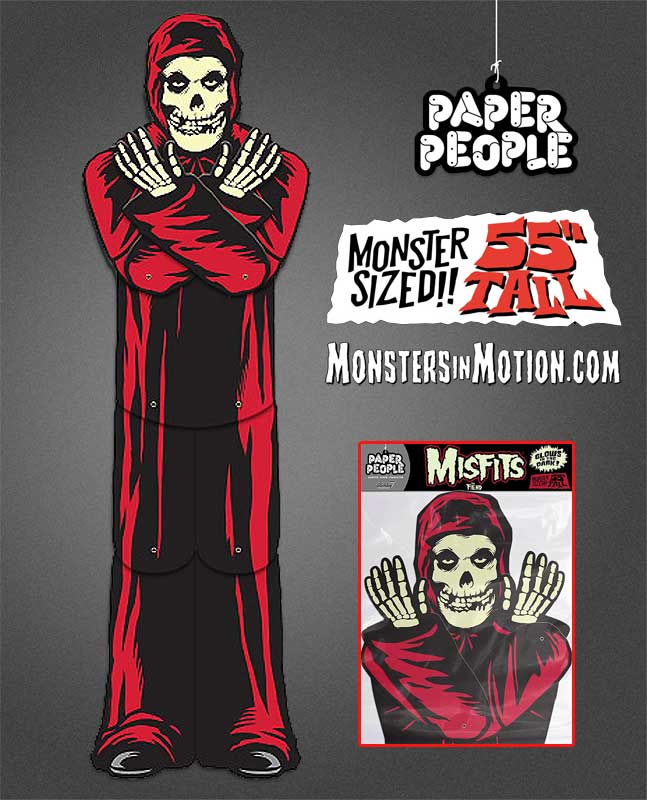 "Misfits The Fiend Paper People 55"" Display RED Glow Version Crimson Ghost"