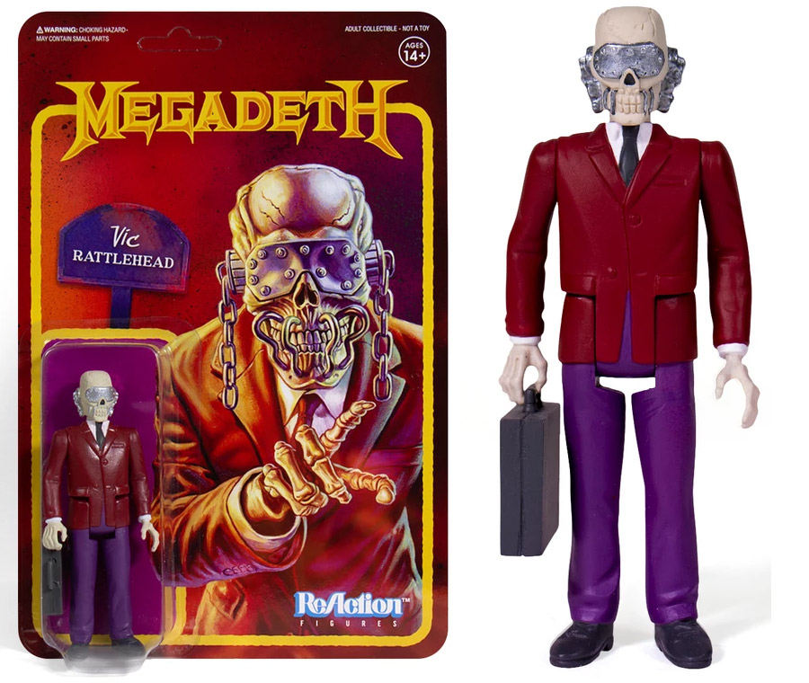 "Megadeth Vic Rattlehead 3.75"" ReAction Action Figure"