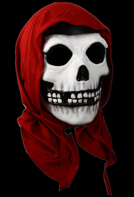 Misfits Red Hood Fiend Crimson Ghost Halloween Mask