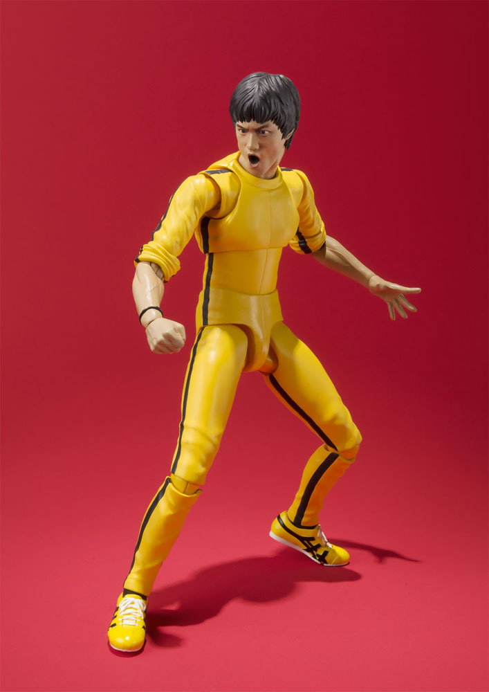 "Bruce Lee Yellow Track Suit 6"" Action Figure by S.H. FigureArts"