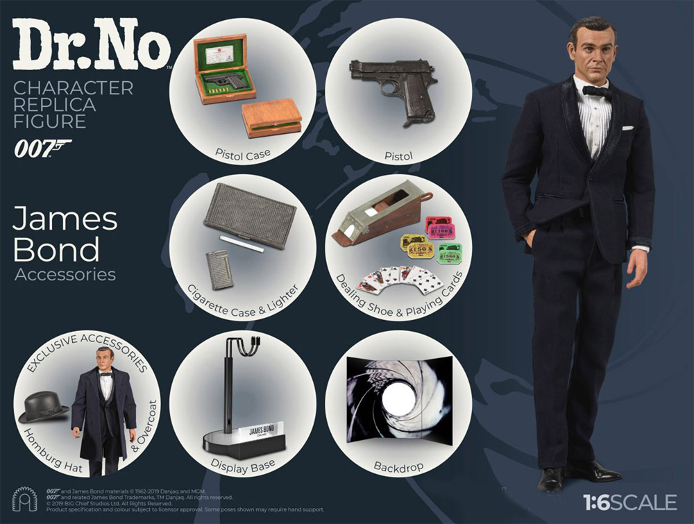 James Bond 007 Dr. No Sean Connery 1/6 Scale Figure by Big Chief