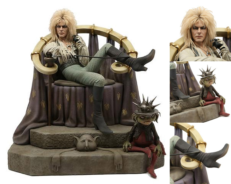 Labyrinth Jareth on the Throne 1/4 Scale Statue David Bowie