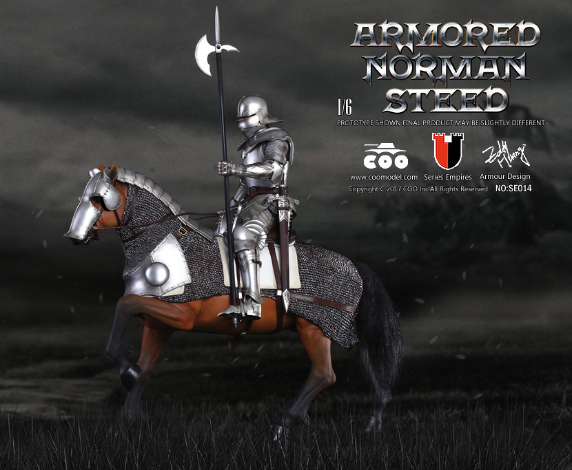 COOMODEL 1/6 Empire Series - (New Lightweight Metal) Milanese Knight 161CO12_Armored-Steed_01