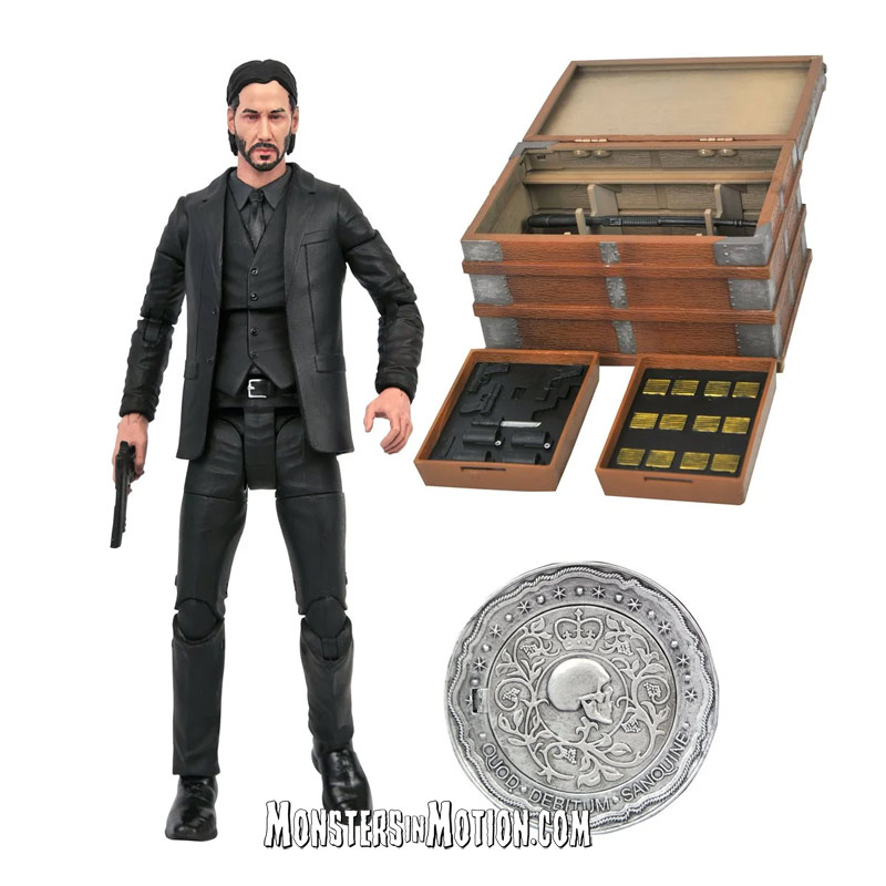 John Wick Keanu Reeves Deluxe Action Figure Box Set