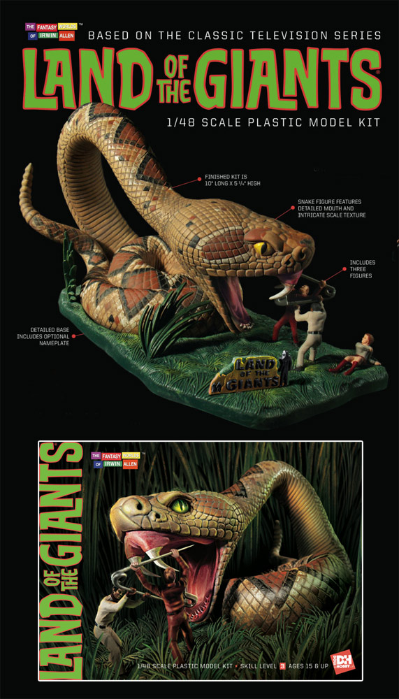 Land of the Giants Giant Snake Diorama Model Kit Aurora Re-Issue