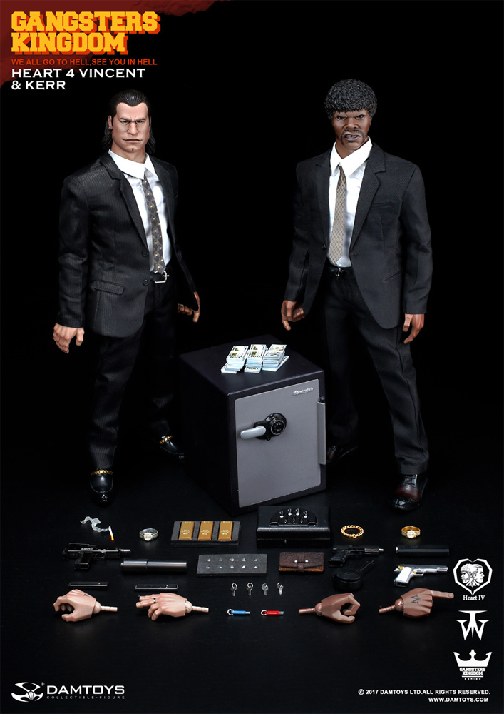 Vincent and Kerr 1/6 Scale Gangsters Kingdom Figures by Dam Toys (Pulp Fiction Tribute)